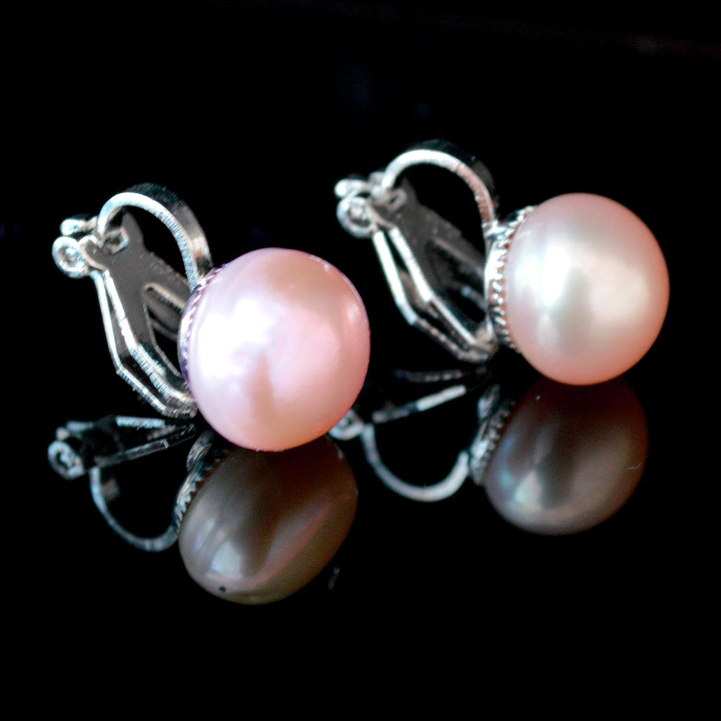 Clip 7mm Cultured Pearl Stud Earrings