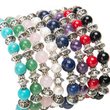 Lana Gemstone Tibetan Silver Stretch Stacking Bracelet Assorted color Options
