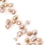 Radiance Floating Pearl Choker Necklace Bridal Blush Pink