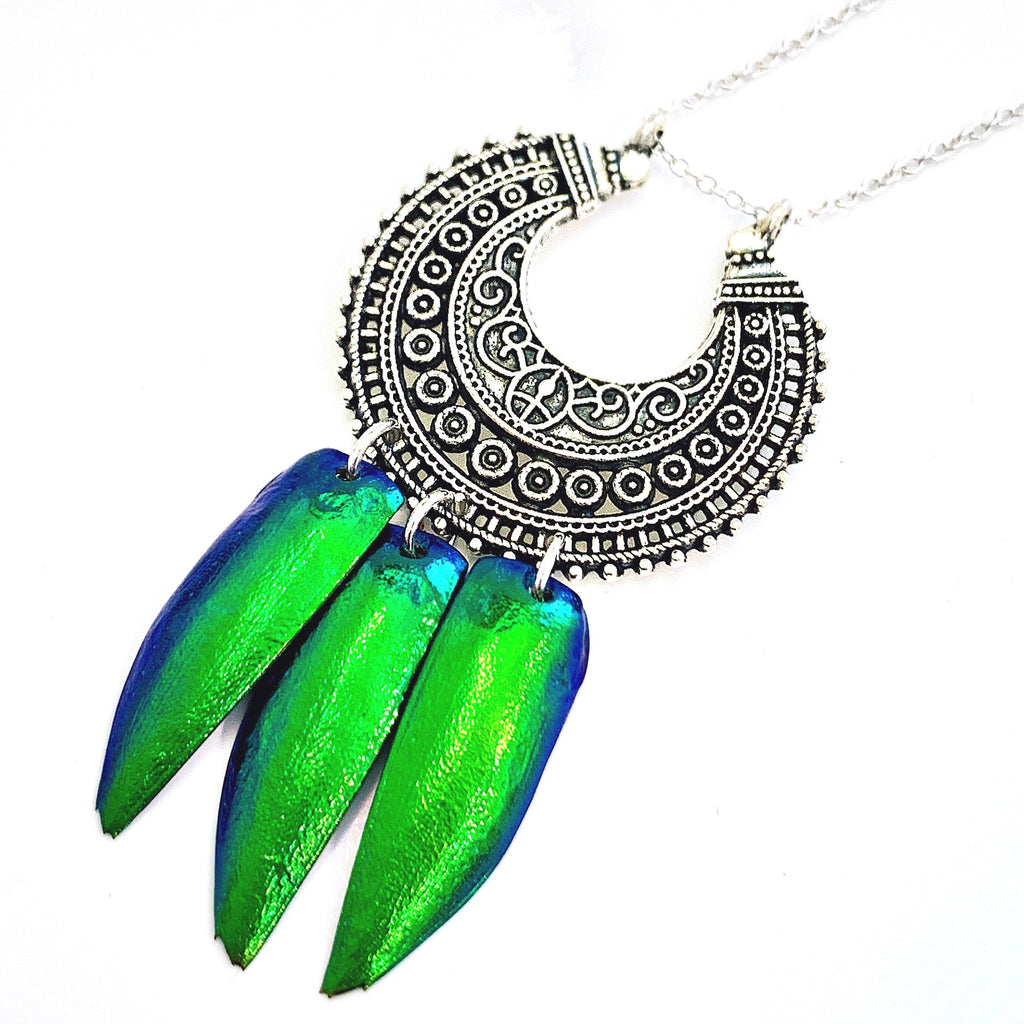 Deva Jewel Wing Tibetan Silver Necklace