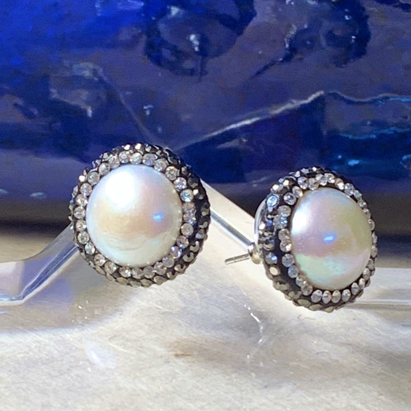 Sheba Pearl Post Earrings