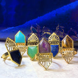 Geo Gemstone Ring