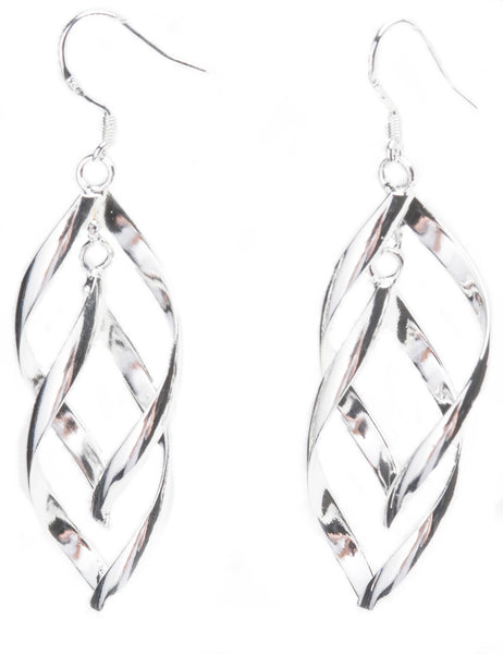Avalon Sterling Silver Intertwining Earrings