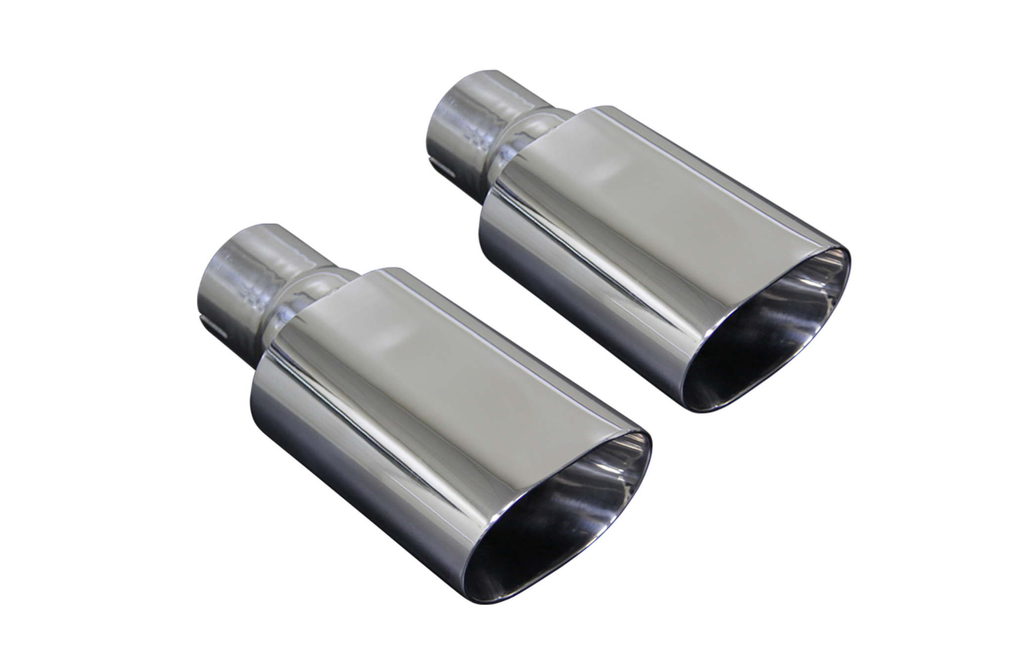 Chevelle Tips - Double Walled, Polished Stainless Steel