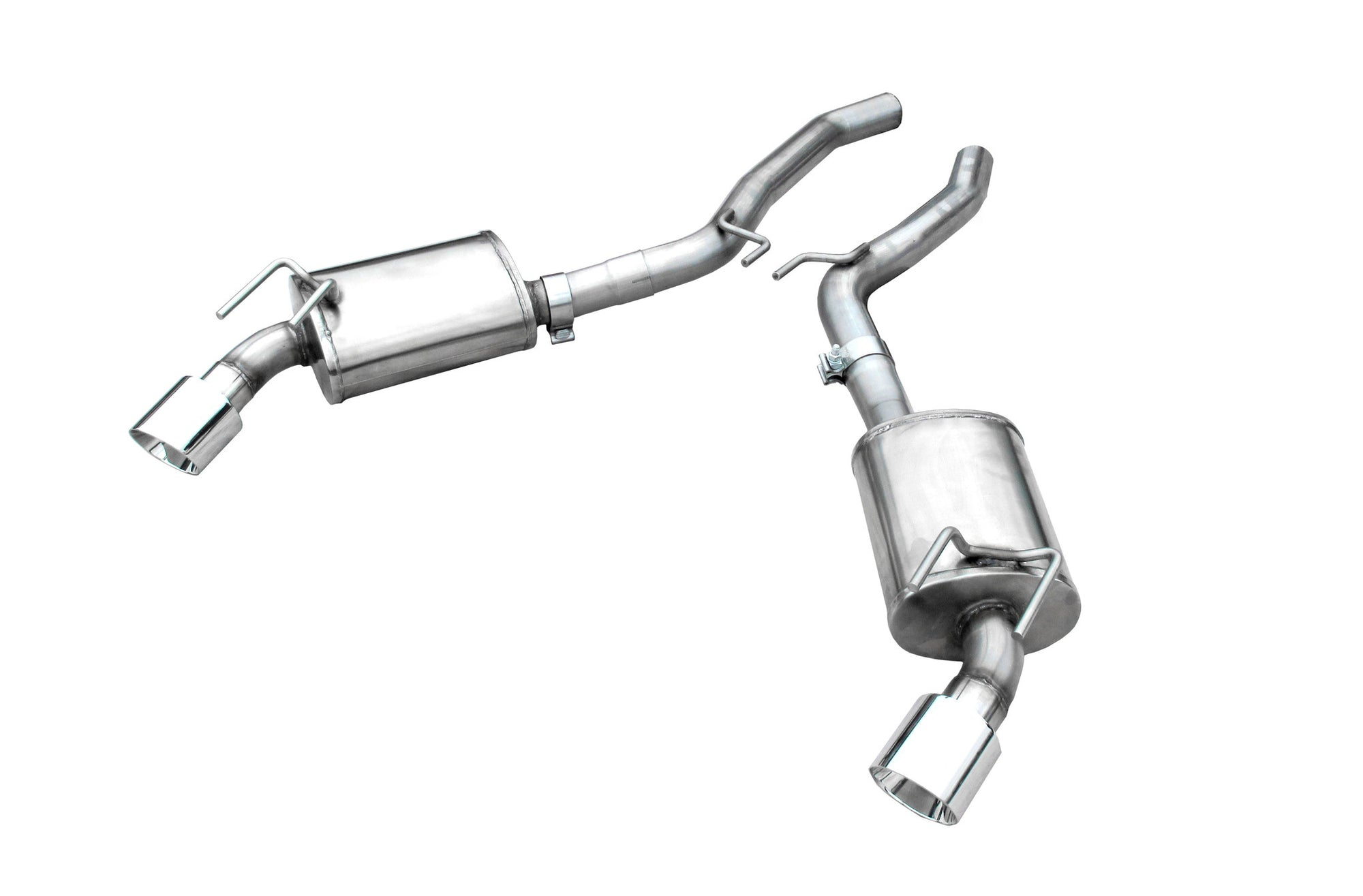 CAMARO V8 2010-UP AXLEBACK MUFFLER WITH POLISHED S/S TIPS