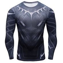Load image into Gallery viewer, Black Panther 3D Printed T-shirts Long Sleeve fitness T shirt