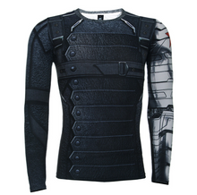 Load image into Gallery viewer, 3D Winter Soldier Avengers 3 Compression Shirt Men Long Sleeve Fitness Crossfit T Shirts