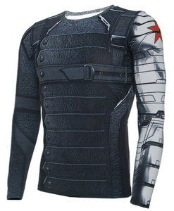 3D Winter Soldier Avengers 3 Compression Shirt Men Long Sleeve Fitness Crossfit T Shirts