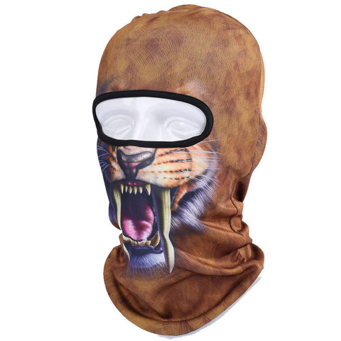 3D Animals Outdoor Full Face Mask  For Woman & Man  Ski, Motorbike, Cycling