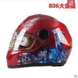 Free shipping kids full face  motorcycle helmet cartoon picture