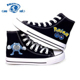 For Men & Women Water Type Pokemon Shoes Canvas Shoes