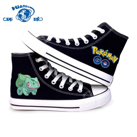 Canvas Shoes Pokemon Go Bulbasaur, Ivysaur, Venusaur Print High Quality Shoe