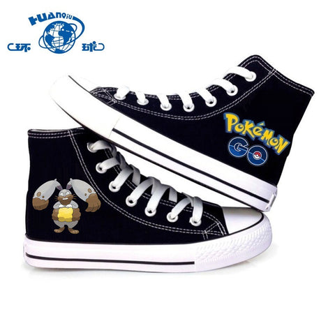 For Men & Women  Ground Normal Type Pokemon Black Canvas Shoes