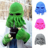 Octopus Cthulhu Knit Beanie Hat