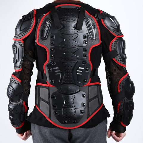 New Black/Red Professional Motorcycle Motocross Racing Full Body Protective BIKER ARMOR  S~XXXL