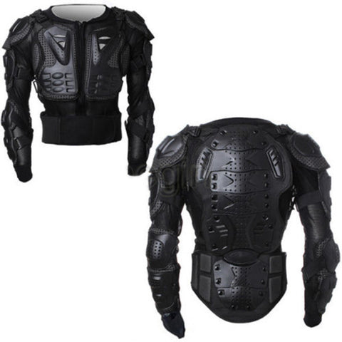 New Black/Red Professional Motorcycle Motocross Racing Body Protective Armor Jacket Gear BIKER ARMOR Size S~XXXL