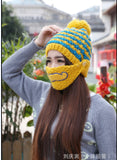Solid winter keep warm Hip-hop Beard hat