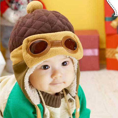 Toddler Cool Baby Boy Girl Kids Infant Winter Pilot  Warm Cap Bomber Hat
