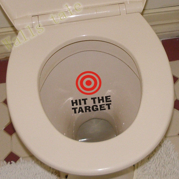 hit the target waterproof funny toilet sticker Bathroom personality Toilet Seat Sign Reminder Quote boys potty training