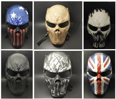High Quality CS Mask Halloween Mask Skull Mask Chiefs M60 CS Wargame Paintball Skull Full Face Protective Men Skeleton Equipment