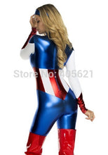 Load image into Gallery viewer, Captain America Super Heroes Bodysuits Female  (FREE SHIPPING)