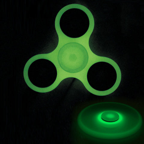Glow in Dark Luminous Tri-Spinner Fidget Spinner