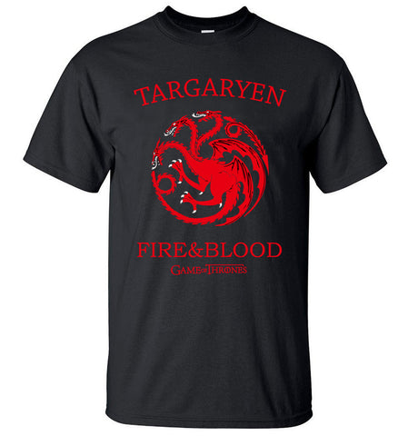 Targaryen Fire & Blood Game of Thrones Men T Shirts !FREE SHIPPING