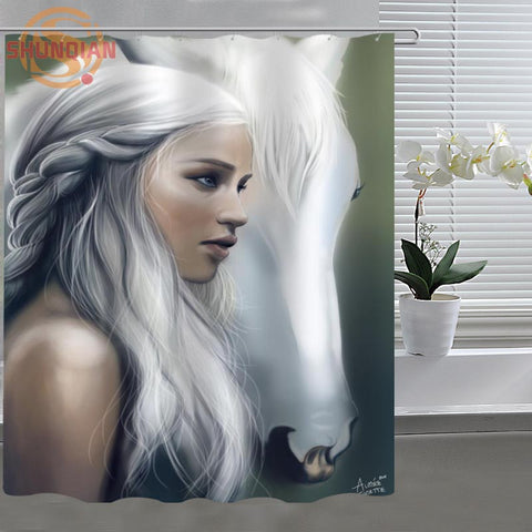 Game Of Thrones art Custom Shower Curtain Fabric polyester Bathroom Curtain (!FREE SHIPPING)