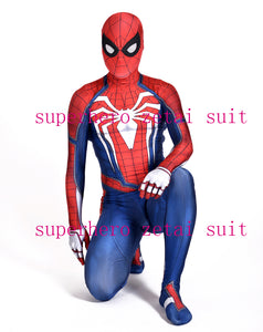 New Insomniac Spider-man Costume PS4 Insomniac Games Spiderman Superhero Costume Spandex Halloween Cosplay Zentai Suit For Adult