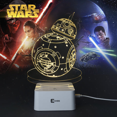 Star Wars Lamp 3D Night Light Robot USB Led Table Desk