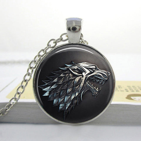 vintage dragon Wolf  jewelry game of thrones animal pendant FREE SHIPPING!