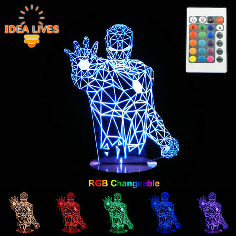 Changeable Mood Lamp Super Hero LED 3D Light