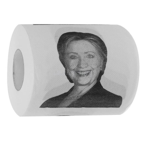 1 Roll Hillary Clinton Potrait Toilet Paper Bundle Gag Gift Bathroom Tissue