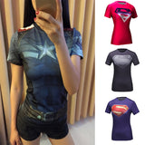 High Quality Women Bodys Armour T Shirt Girl Fitness Tights