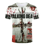 Summer The Walking Dead Breathable T Shirt  Male 3d Printed Tee Shirt High Quality Man t-shirts Wholesale Crew Neck Short Sleeve