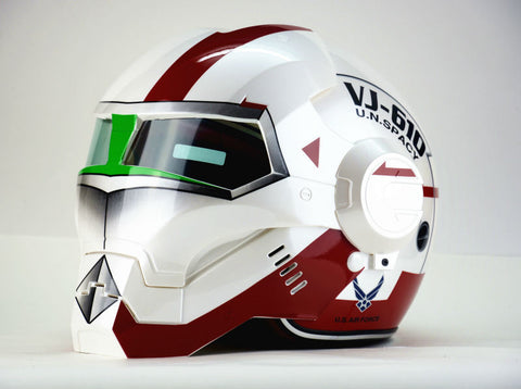 Iron Man personality fashion half  open face  motocross helmet