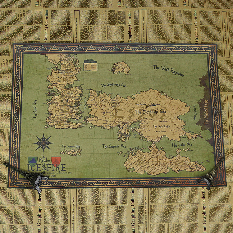Game of Thrones Map movie Poster Wall art (FREE SHIPPING)