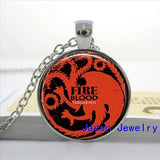 Game of thrones Necklace Dragon House Stark necklace Targaryen Westeros Map Pendant  (FREE SHIPPING)