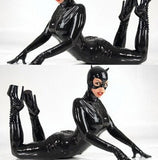 Sexy  PVC Leather Costume Catwoman Bodysuit With mask
