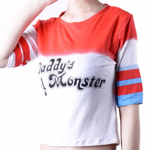 Suicide Squad Harley Quinn T-shirt Daddy's Lil Monster (FREE SHIPPING!!!)