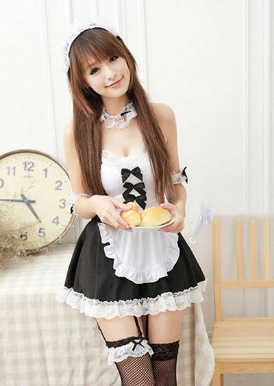 FREE SHIPPING! Sexy Japanese Women Maid Lolita Uniform