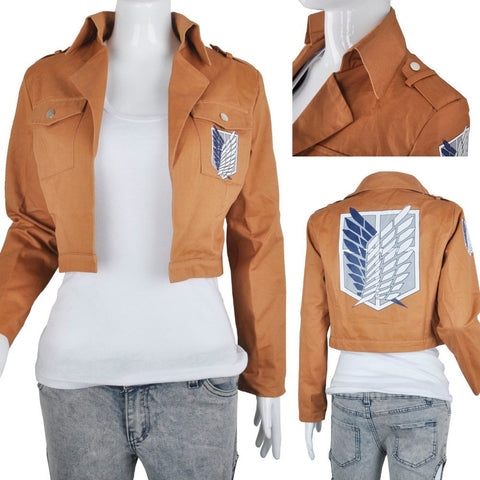 Attack on Titan Jacket Halloween Costume for women men (FREE SHIPPING!)
