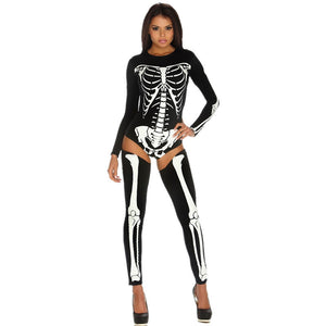 Skeleton Bodysuit Costume Women Nightclub Party Cosplay Clothes