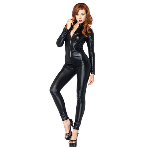 Black Widow Cosplay Costumes Bodysuits PU Leather (FREE SHIPPING