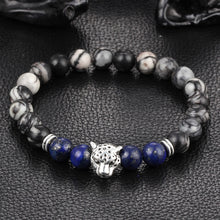 Load image into Gallery viewer, Wholesale Antique Silver Plated Buddha Leopard head Bracele