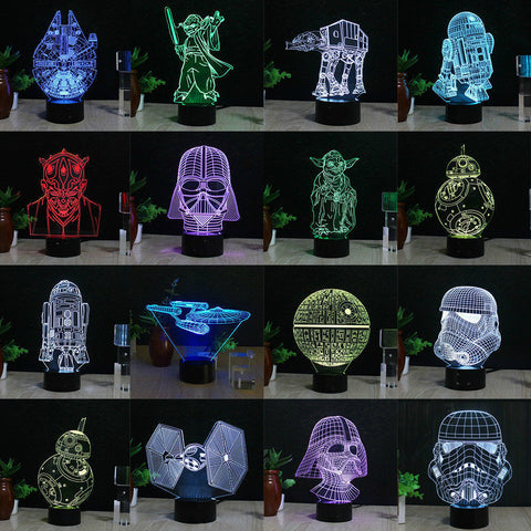 lamp Decor LED star wars 3D light