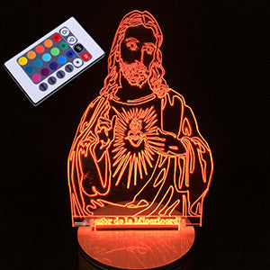 Jesus Creative DNA Shaped 3D Bedroom Lights LED Night Lamp