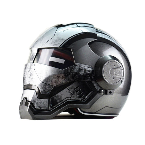 Iron Man personality special fashion half open face motocross helmet