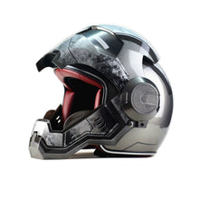 Load image into Gallery viewer, Iron Man personality special fashion half open face motocross helmet