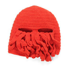 Octopus Winter Warm Knitted Wool Ski Face Mask